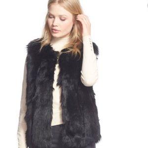 Topshop Black Faux Fur Vest
